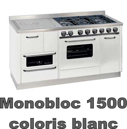 Monobloc 1500 r f chauffage cuisini res bois espace po le scandinave - Cuisiniere piano tout gaz ...