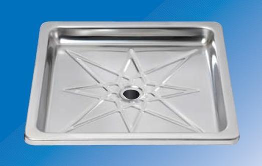 bac de douche carr 60x60 inox r f salle de bain plomberie bacs douche espace po le. Black Bedroom Furniture Sets. Home Design Ideas